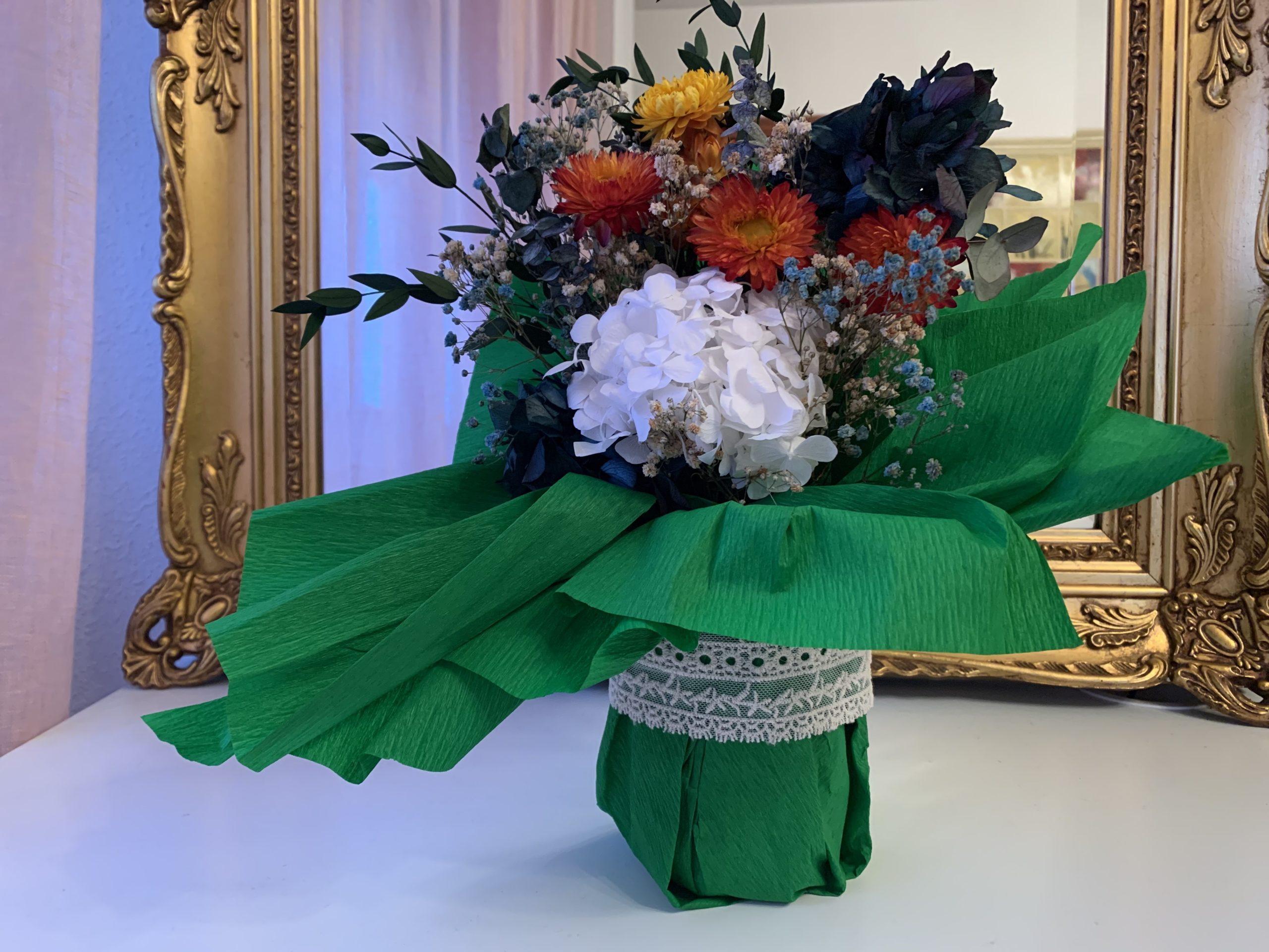 Bouquet tonos naranja